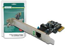 Digitus Gigabit PCI Express Card 10 / 100 / 1000 Mbit, 32-bit, Realtek chipset, Incl. Low Profile Bracket Single-Lane